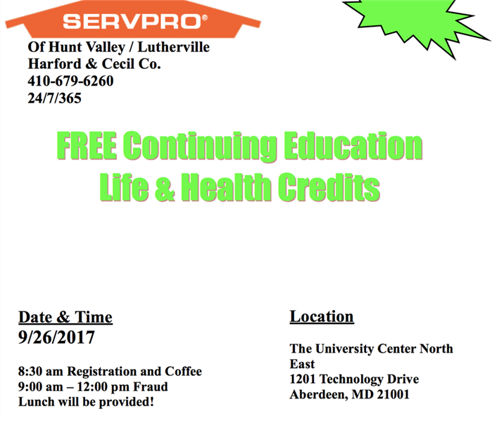Free Continuing Education Class