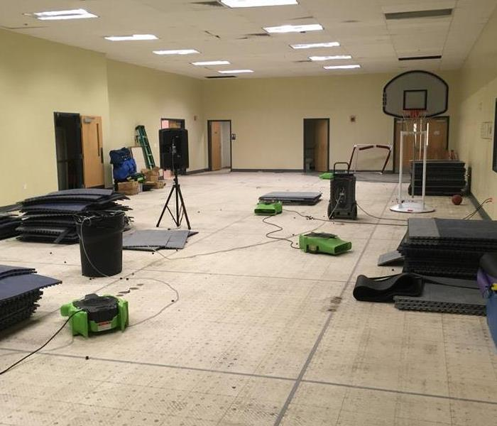 Water Damage in Fitness Facility